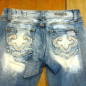 ReRock distressed bleached look jeans